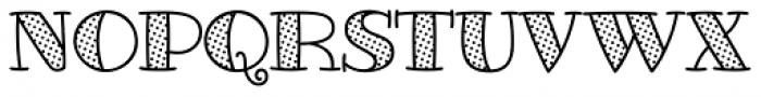 Glotona White Dot Font UPPERCASE