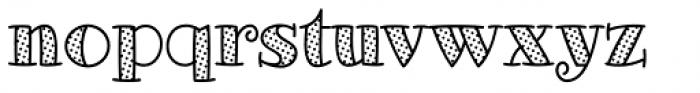 Glotona White Dot Font LOWERCASE