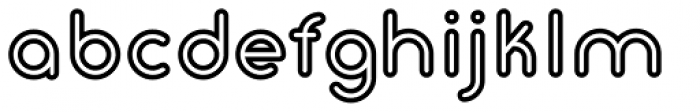 Gluck Bold Stroked Font LOWERCASE