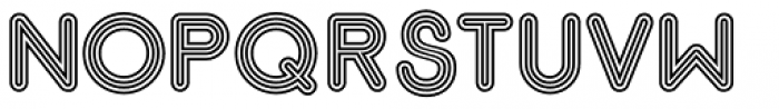 Gluck Stripes Font UPPERCASE