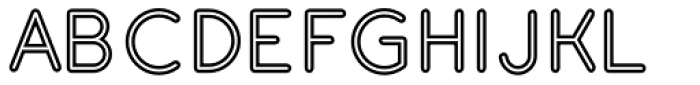 Gluck Stroked Font UPPERCASE
