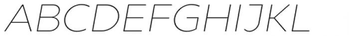 Gluy Thin Italic Font UPPERCASE
