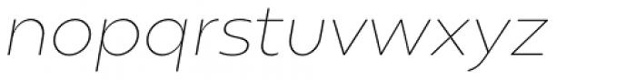 Gluy Thin Italic Font LOWERCASE