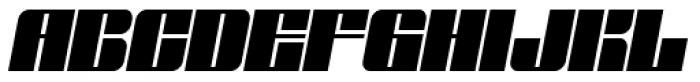 Glyphic Neue Wide Italic Font UPPERCASE