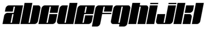 Glyphic Neue Wide Italic Font LOWERCASE