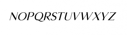 Glosso Italic Font UPPERCASE