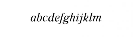 Glosso Italic Font LOWERCASE
