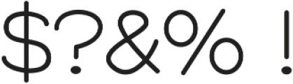 GM Freestone Sans Light ttf (300) Font OTHER CHARS
