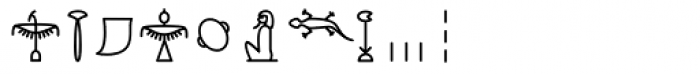 GM Hieroglyphic Kerned Font OTHER CHARS