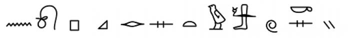 GM Hieroglyphic Kerned Font UPPERCASE
