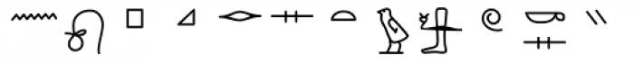 GM Hieroglyphic Kerned Font LOWERCASE