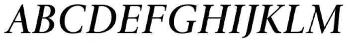 Gmuender Antiqua Pro Demi Italic Font UPPERCASE
