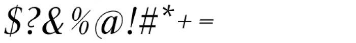 Gmuender Antiqua Pro Italic Font OTHER CHARS
