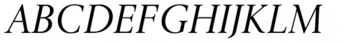 Gmuender Antiqua Pro Italic Font UPPERCASE