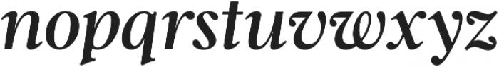 Gnaw Hard Italic otf (400) Font LOWERCASE