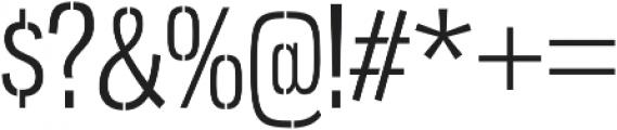 Gnuolane Stencil Book otf (400) Font OTHER CHARS
