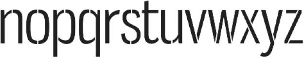 Gnuolane Stencil Book otf (400) Font LOWERCASE