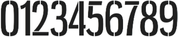 Gnuolane Stencil Regular otf (400) Font OTHER CHARS