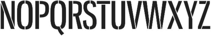 Gnuolane Stencil Regular otf (400) Font UPPERCASE