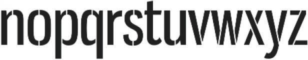 Gnuolane Stencil Regular otf (400) Font LOWERCASE