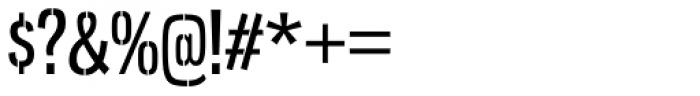 Gnuolane Stencil Regular Font OTHER CHARS