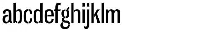 Gnuolane Stencil Regular Font LOWERCASE