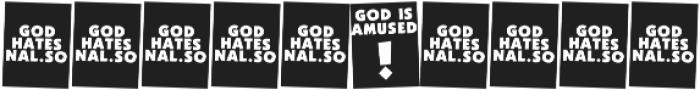 God Hates Westboro otf (400) Font OTHER CHARS