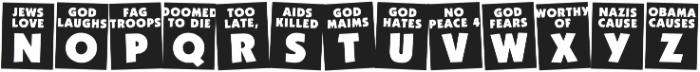 God Hates Westboro otf (400) Font UPPERCASE