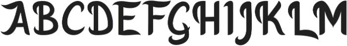 Godong Regular otf (400) Font UPPERCASE