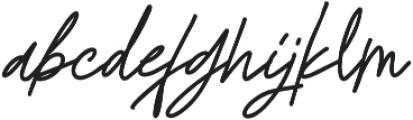 Godwit Signature Bold otf (700) Font LOWERCASE