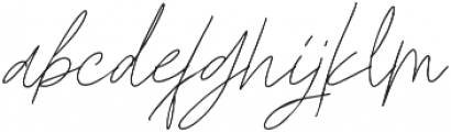 Godwit Signature Light otf (300) Font LOWERCASE