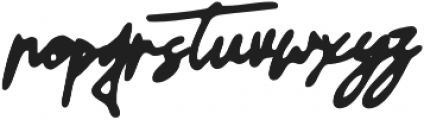 GodwitSignatureWet otf (400) Font LOWERCASE