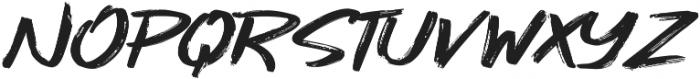 Gojira Black Slant ttf (900) Font UPPERCASE