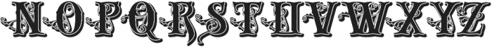 Gold And Bone Shadow VMF otf (400) Font UPPERCASE