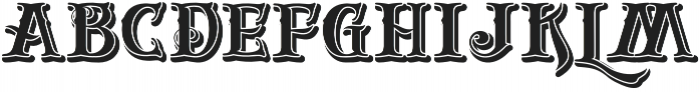 Gold And Bone Shadow VMF otf (400) Font LOWERCASE