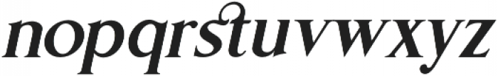 Gold Leaf News Italic otf (400) Font LOWERCASE