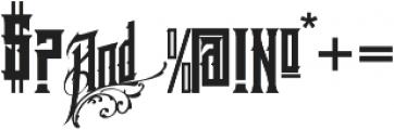 GoldMiner  VMF otf (400) Font OTHER CHARS