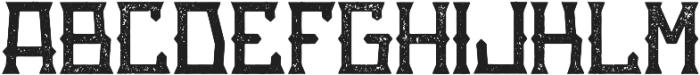 GoldRush Aged otf (400) Font LOWERCASE