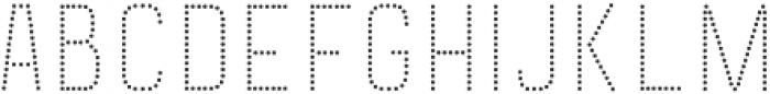 Goldana Dot Solo otf (400) Font UPPERCASE