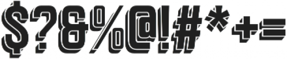 Goldana Drop Shadow otf (400) Font OTHER CHARS