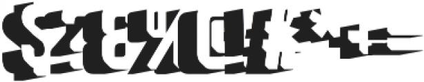 Goldana Extrude Shadow otf (400) Font OTHER CHARS