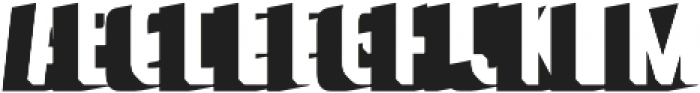 Goldana Extrude Shadow otf (400) Font UPPERCASE