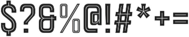 Goldana Inline otf (400) Font OTHER CHARS