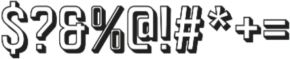 Goldana Outline Extrude otf (400) Font OTHER CHARS