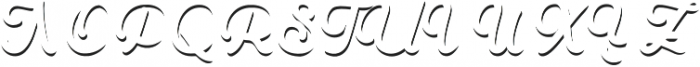 Goldana Script Shadow Solo otf (400) Font UPPERCASE