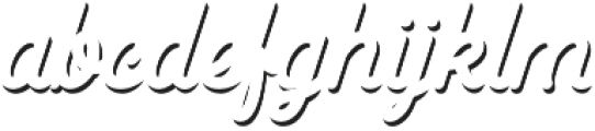 Goldana Script Shadow Solo otf (400) Font LOWERCASE