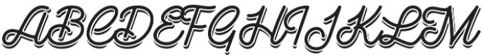 Goldana Script Shadow otf (400) Font UPPERCASE