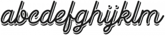 Goldana Script Shadow otf (400) Font LOWERCASE