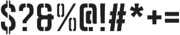 Goldana Stencil otf (400) Font OTHER CHARS