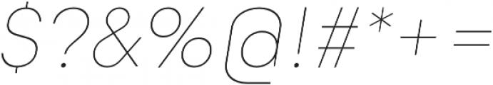 Goldbill XL Thin Italic otf (100) Font OTHER CHARS